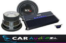 "HIFONICS HUGE POWER BASS PACKAGE SINGLE 12"" SUBWOOFER AMPLIFIER CAR AUDIO DEAL"