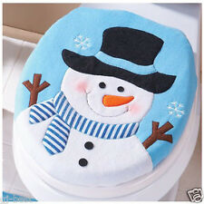 Christmas Home Decoration Toilet Cover Christmas Snowman Lid Single Toilet Cover