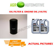 DIESEL OIL FILTER + SS 10W40 ENGINE OIL FOR RENAULT LAGUNA 2.2 113 BHP 1995-99