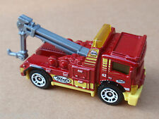2014 Matchbox URBAN TOW TRUCK 2/120 MBX Adventure City LOOSE Red