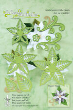LEA'BILITIES DIE CUT EMBOSS CRAFT STENCIL MULTI FLOWER POINSETTIA 004 45.8961