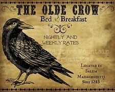 Primitive Old Crow Bed and Breakfast Print 8x10