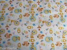 TWEETY BIRD LOONEY TUNES HEARTS BUTTERFLIES on COTTON FABRIC Priced By The Yard