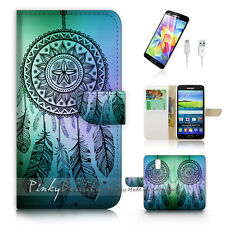 Samsung Galaxy S5 Print Flip Wallet Case Cover! Dream Catcher P0419