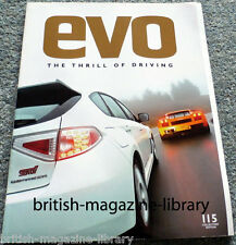 Evo Magazine Issue 115 - Subaru Impreza WRX STI Type-UK v Gallardo Superleggera