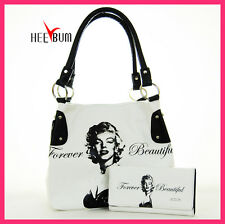Marilyn Monroe Women's Handbag & Wallet Set Girl Fashion Designer Shoulder Bag