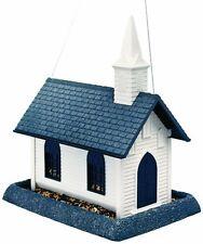 North States VILLAGE COLLECTION CHURCH BIRD FEEDER WHITE/GRAY 8 POUND CAP 61022