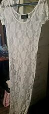 SAY ANYTHING WOMENS CREAM LACE TUNIC SHIRT DRESS SIZE  LARGE