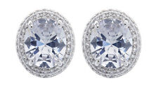 CLIP ON EARRINGS - silver plated with crystals & cubic zirconia stone  - Miley C