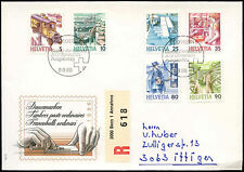 Switzerland 1986 Definitives, Registered FDC First Day Cover #C21036