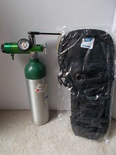 Used Portable oxygen tank & Regulator Carrying case is new ,***Fast Shipping ***