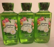 3 Bath & Body Works GARDENIA & FRESH RAIN Shea VITAMIN E Body Wash/Shower Gel