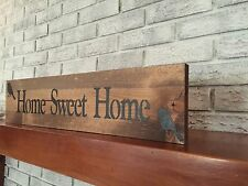 "Large Rustic Wood Sign - ""Home Sweet Home"" - Birds, Fixer Upper, HGTV"