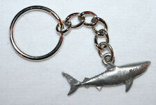 Great White Shark Fine Pewter Keychain Key Chain Ring USA Made