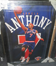 CARMELO ANTHONY UNSIGNED NEW YORK KNICKS 600x900 NBA POSTER FRAMED