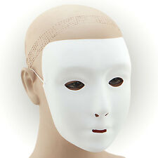 PLAIN WHITE MASK PLASTIC FANCY DRESS