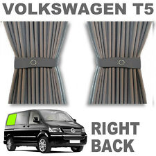 VW T5 Curtain Kit - GREY - Right Back SWB VWT5 Campervan Curtains