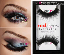 LOT 3 Pairs GENUINE RED CHERRY #102 Chakra Human Hair Lashes False Eyelashes