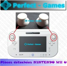 2 capuchons caps button thumbs stick blanc white joystick gamepad NINTENDO Wii U