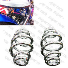 "Newest 3"" Chrome Barrel Coiled Solo Seat Springs Insert For Honda CB XS GS KZ XL"