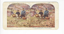 Ingersoll Stereoviews: Siege of Port Arthur #25, Chinese Coolies Taking It Easy