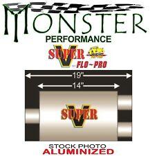 """3.00"""" Center X 2.50"""" Dual SuperV 2 Chamber Street Muffler FLO-PRO V430402"""