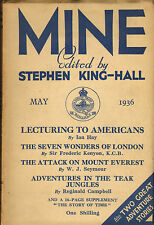 mine : edited by stephen king - hall . may 1936 : the attack on mount everest