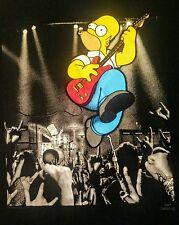 Homer and Bart Simpson Rock & Roll Tee Shirt LRG - guitar