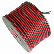 TWIN CORE 17A AMP 12V BLACK/RED DC POWER CABLE £3.99 per 5 metres AUTO 12 VOLT