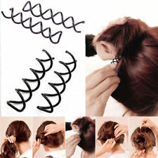 10x Spiral Spin Screw Bobby Pin Hair Clip Twist Barrette Hairpins Black Colour