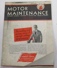 Motor Maintenance Magazine  Equipment For Motor Cars  November 1932  100914lm-e