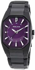 Police PL.12895LSB/15M Ladies Octane Black Stainless Steel Purple Dial Watch
