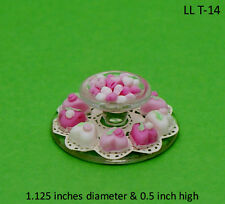 HEARTS CANDY W/ SERVING TRAY 1:12 Scale Dollhouse Miniature Adult Collectable