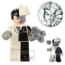 1pc Two-Face Minifigures Building Blocks DC Batman Villains Custom Lego #258
