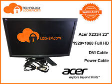 "Acer X233H 23"" Widescreen (1920x1080) LCD Monitor With DVI and Power Cables"