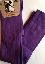 NEW KIDS TEENAGE ADULT PURPLE LONG OVER KNEE SOCKS SIZE 4-6.5 FUN PARTY DANCE