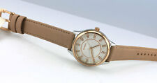 FOSSIL Womens BQ1576 Rose Gold-Tone Stainless Steel TAN Leather WATCH