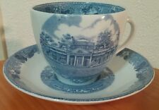 Old English Staffordshire Ware Monticello Home/Thomas Jefferson cup&saucer set