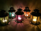 Moroccan / Indian Style Glass & Metal Candle Lantern Tea Light Holder 5 Colours