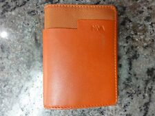 NAVA DESIGN MEN'S RUST LEATHER WALLET NEW