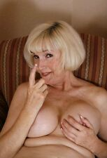 "Mature Woman - Busty Wife,  Sexy Come Here Pose, Granny 4""x 6"" Photo"