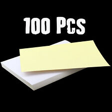 100Pcs A4 White Self Adhesive Sticker Paper Sheet Address Labels Inkjet Laser UK