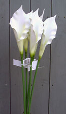 6 x Artificial 60cm Foam White Calla Lilies - Artificial Single Stem Flowers