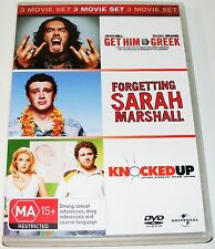 Get Him To The Greek / Forgetting Sarah Marshall / Knocked Up--( Dvd 3 Disc Set)