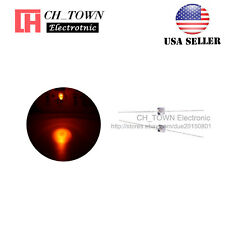 50pcs 1.5mm LED Diodes Transparent Water Clear Orange Light High Quality