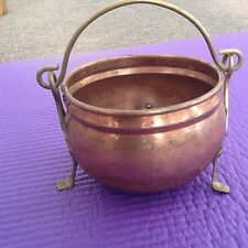 Vintage copper pot very old French copper pot with handle