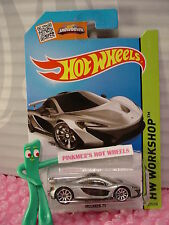 Case H/J 2015 i Hot Wheels McLAREN P1 #223☆Silver; 10sp☆New Casting☆HW Garage
