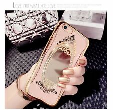 Diamond Crystal Rhinestone Soft Case cover Mirror iPhone/Samsung