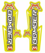 Marzocchi Bomber Fork / Suspension Graphic Decal Kit Sticker Adhesive Set Yellow