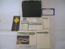 95 1995 Range Rover 4.0 SE 4.0SE Owners Manuals Handbook Set + Extra MSRP # B110